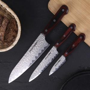 SAMURA KAIJU. Обзор серии безопасных кухонных ножей с японским дизайном